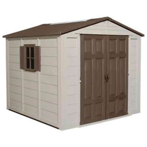 suncast 7 5 ft x 7 5 ft resin storage shed a01b02 the