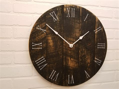 Large Wall Clock Black And Tan 18 Wall Clock. Made From