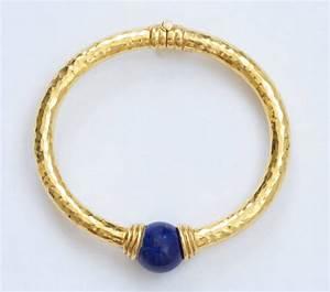 Lalaounis Lapis Lazuli Gold Bangle Bracelet At 1stdibs