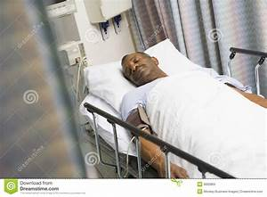 Patient In Hospital Bed stock photo. Image of color ...