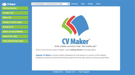 cv maker for windows individual software