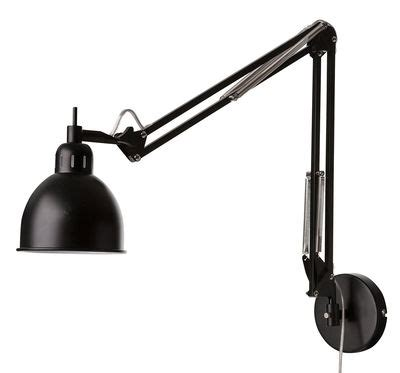 job wall light with plug 2 articulated arms l 78 cm