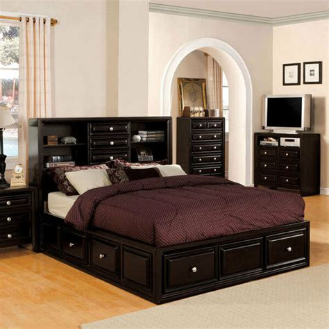 solid wood dark espresso finish platform bed frame set ebay