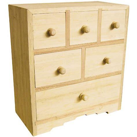 petit mobilier bois commode 6 tiroirs 20x10x20cm