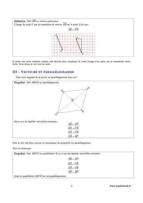 vecteurs et translation cours pdf 224 imprimer maths 3 232 me