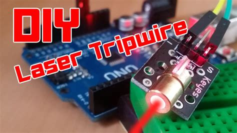 diy easy arduino laser tripwire security system youtube
