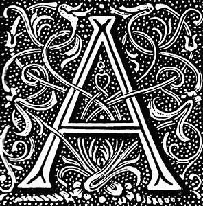 A, Ornate   ClipArt ETC