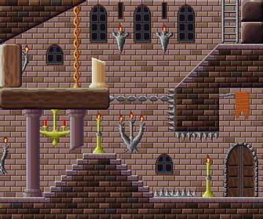 pixel art castle tileset opengameartorg