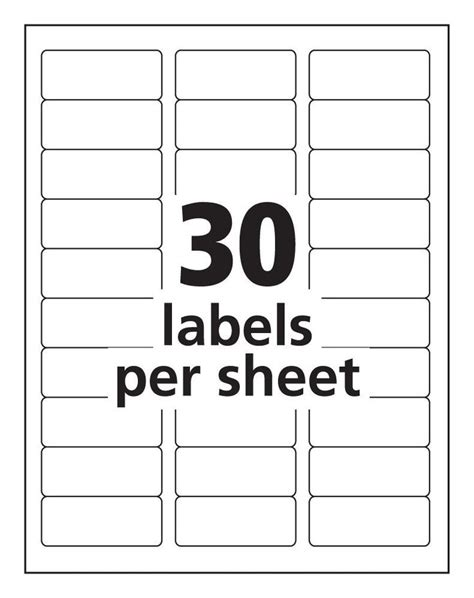 avery  label template   address label