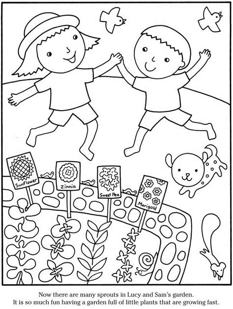 gardening pictures to colour garden coloring page az coloring pages