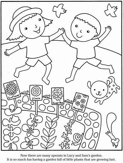 Coloring Garden Pages Gardening Printable Preschool Sheets