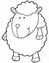 Sheep Coloring Pages Cartoon Lamb Drawing Printable Colour Children Clipart Template Head Getdrawings Popular Library sketch template