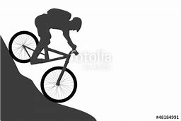 hd wallpapers mountain biker silhouette vector