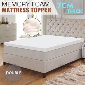 double size memory foam mattress topper white 7cm buy With double matress topper