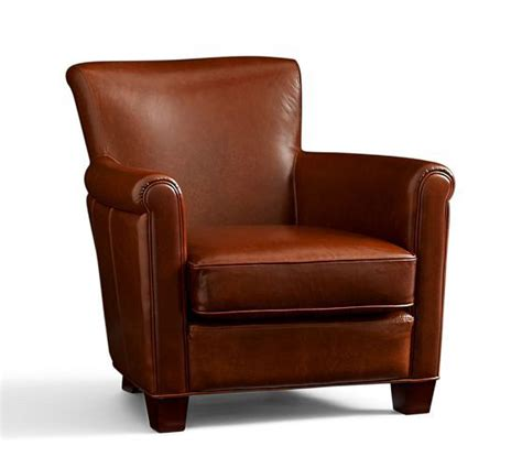 Pottery Barn Irving Chair Recliner by Irving Leather Armchair Pottery Barn Sofas