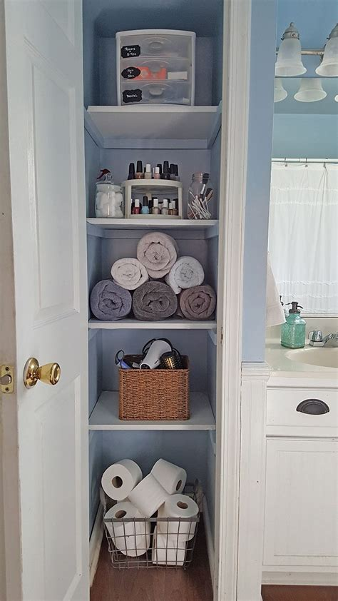 organized linen closet diyfirst home  apartment