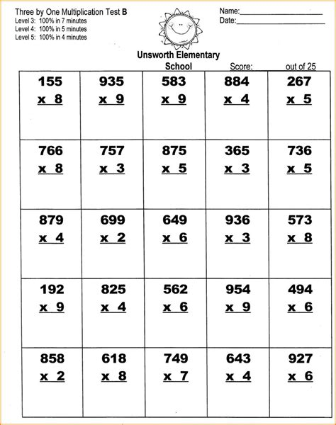 free multiplication worksheets grade 3 worksheet mogenk