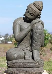Sold, Stone, Resting, Buddha, Garden, Statue, 34, U0026quot, 102ls412, Hindu, Gods, U0026, Buddha, Statues