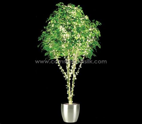 fake tree with lights artificial ficus benjamina tree with lights lighted silk