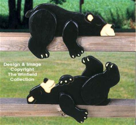 lazy bear cubs rail pets pattern wood crafts wood craft
