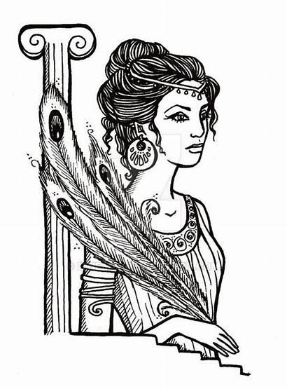 Hera Coloring Pages Greek Goddess Deviantart Drawing