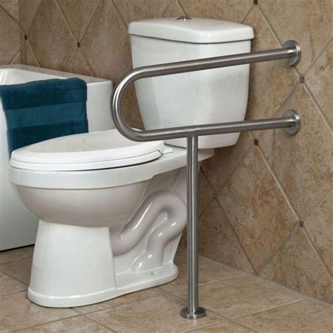 toilet handicap grab bars bar bathroom support handrail safety bathrooms accessories rail ada disabled height stainless steel leg polished rails