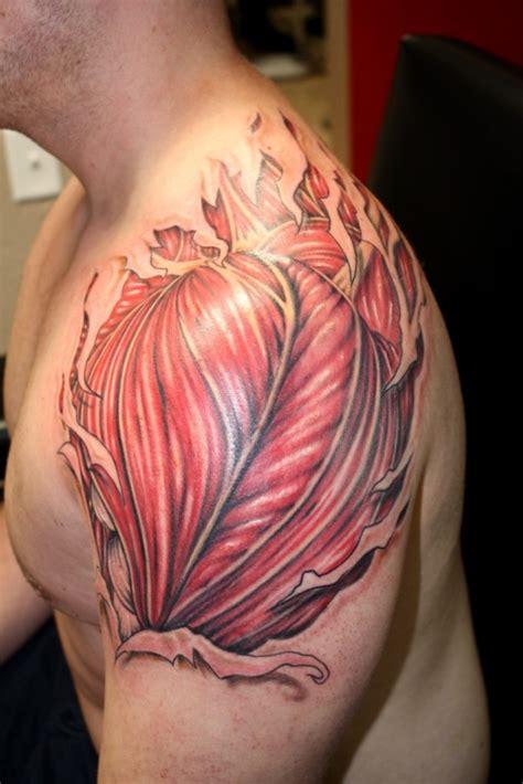 realistic rip shoulder tattoos