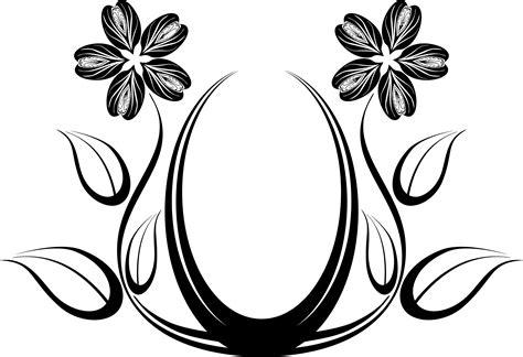 Flowers Design In Black And White Interior Design ~ Clipgoo