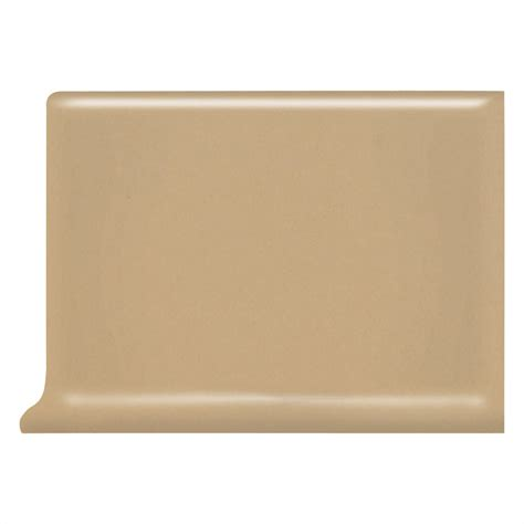 cove base ceramic tile shop american olean bright cappuccino ceramic cove base tile common 4 in x 6 in actual 4 25