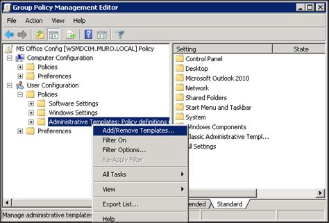 administrative templates adding administrative templates for gpo virtually impossible