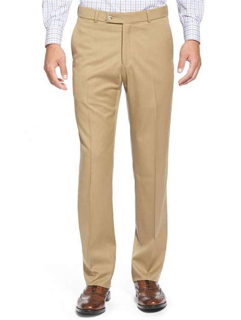 pantalon beige en laine pour homme kebello