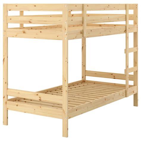 mydal bunk bed frame pine 90x200 cm ikea