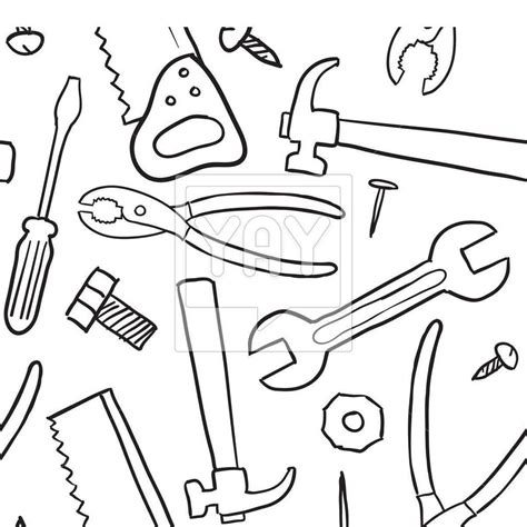 tools coloring pages carpenter tools images