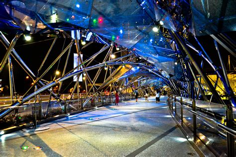 High Tech Architecture  Helix Bridge In Singapore By Cox