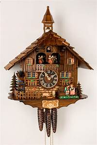 Kissing Lovers Musical Cuckoo Clock - 1 Day Chalet - Musical