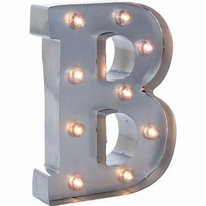 silver metal marquee letter 9875quot b With metal marquee letter b