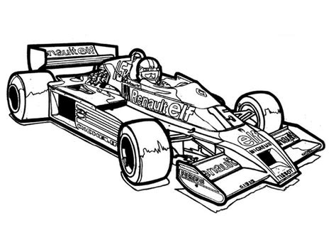 Race car track coloring pages little hands can choose reds, silvers, greens, yellows, blacks and grays from their color palettes for the activity. Racing cars coloring pages to download and print for free
