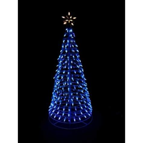 home accents holiday 6 ft pre lit led blue twinkling tree