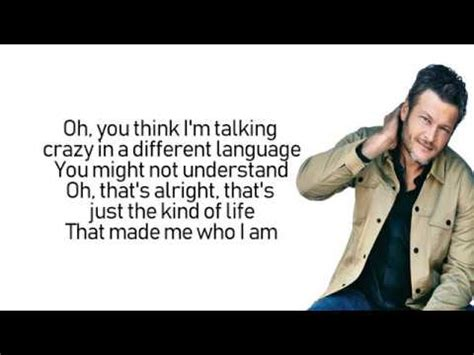 blake shelton i lived it lyrics blake shelton i lived it lyrics lyric video youtube