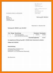 Rechnung Schreiben Ohne Gewerbe Muster : 5 rechnung muster privat avant trash ~ Themetempest.com Abrechnung