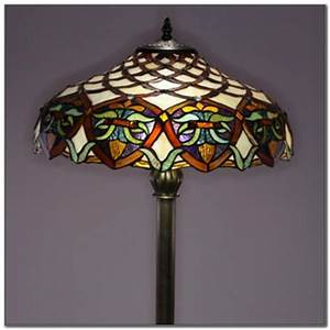 Tiffany style glass torchiere floor lamp lamps home for Tiffany style floor lamp replacement shades