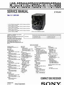 Sony Hcd Gtr333 Gtr555 Gtr777 Gtr888 Diagrama