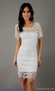 white lace cocktail dress wedding 2016 2017 b2b fashion With white cocktail dress for wedding