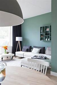 Deco Pour Salon : d co salon comment choisir le bon vert pour ses murs leading inspiration ~ Teatrodelosmanantiales.com Idées de Décoration