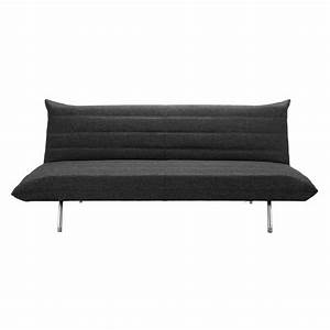 canape clic clac convertible 3 places gris chine fusion With canapé convertible clic clac