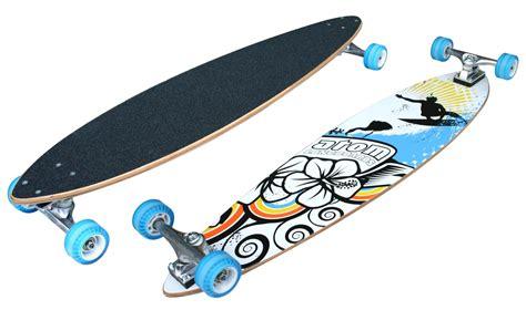 atom pintail longboard longboard skateboards sports outdoors