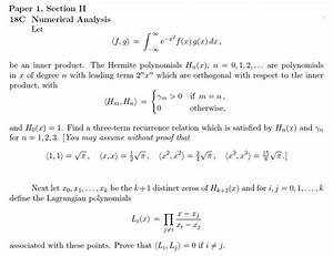 numerical methods - Orthogonality of Lagrange Polynomials ...