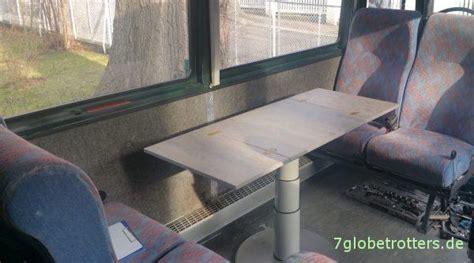 wohnmobil tisch selber bauen und ohne stuetze  die
