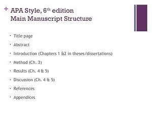 apa style dissertation apa style thesis structure apa style