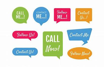 Follow Labels Business Call Label Vector Icons
